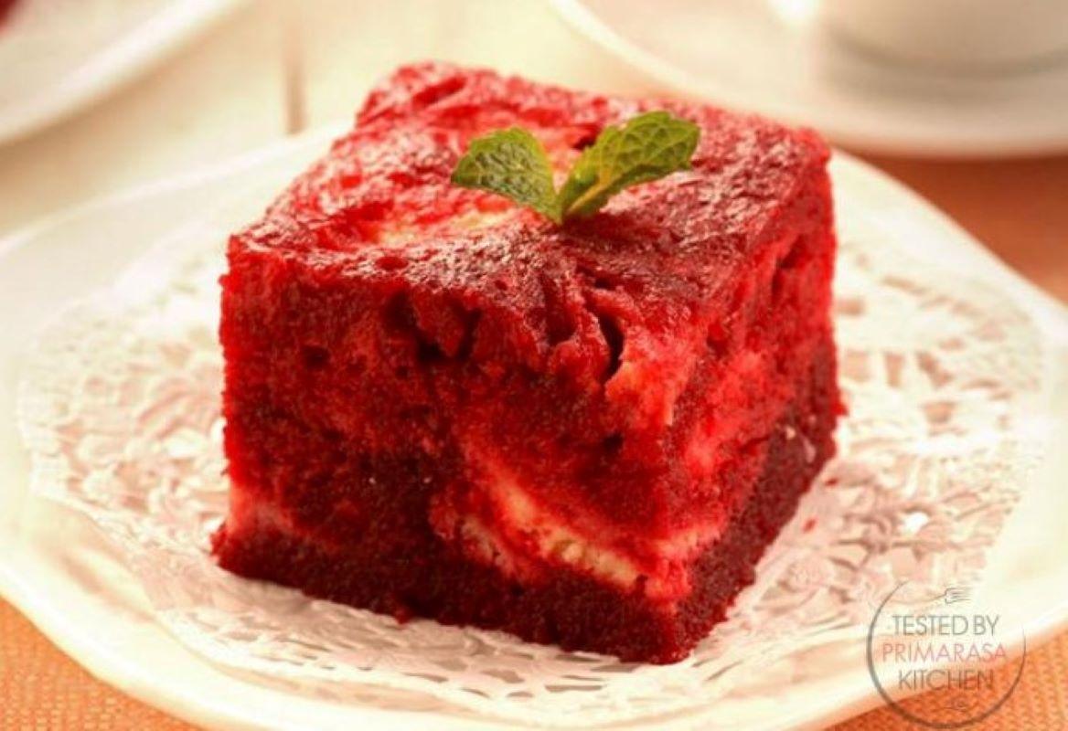 Resep Primarasa: Red Velvet Cheesecake Brownies